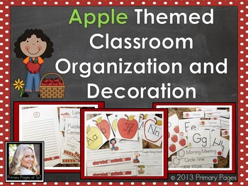 Apple Themed Classroom Decorations and Organization