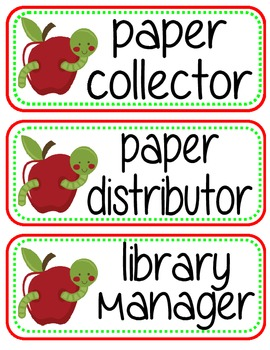 Apple Themed Classroom Pack
