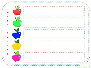 Apple Themed Classroom Resources