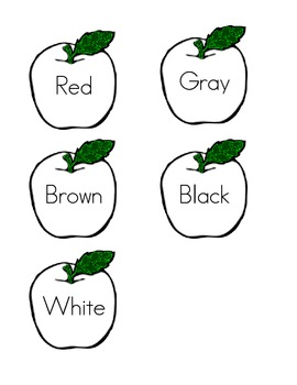 Apple Themed Color Match Game