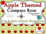 Apple Themed Compass Rose:Map Skill Cardinal Directions Cu