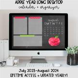 Apple Desktop Organization Wallpaper + Calendar