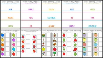 Apple Themed Cookie Tray Activities