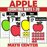 Apple Themed Counting Mats 1-20