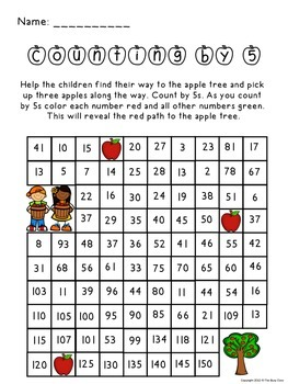 Fall Counting by 5 Activity
