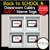 Apple Themed Cubby Name Tags {editable}