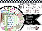 Apple Themed Digital Paper and Clipart