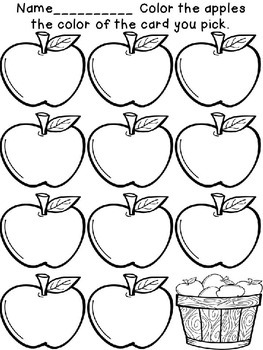 Apple Themed Dolch Sight Words, Math & Literacy Center Activities w/ Worksheets