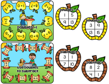 Apple Themed Doubles Board Game