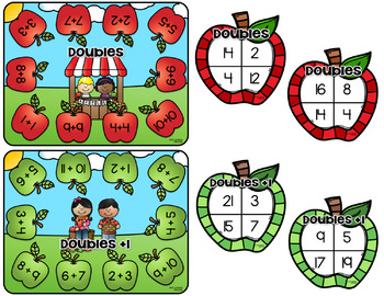 Apple-Themed Doubles Board Game