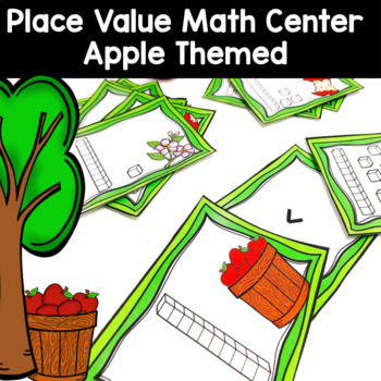 Apple Themed Printable Math Center for Place Value