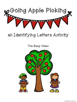 Fall Identifying Letters Activity