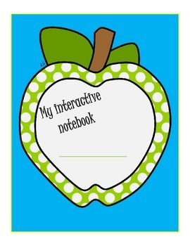 Apple Themed Interactive Notebook Cover
