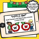 Apple Themed Letter Identification Activities For GOOGLE CLASSROOM