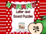 Apple Themed Letter and Sound Puzzles