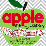 Apple Themed Back to School Activities for Pre-k/Kinder