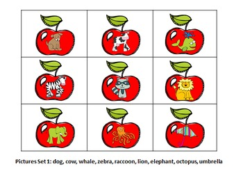 Apple Themed Literacy Games