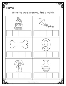 Apple Themed - Literacy & Math Centers