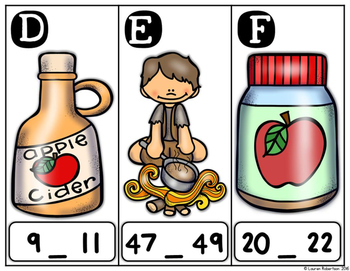Number Sequencing: Apple Themed Math Center