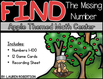 Apple Themed Math Center- Number Sequencing