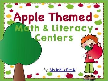 Apple Themed Math & Literacy Centers