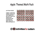 Apple Themed Math Pack--Great for ABA, SPED, and Centers