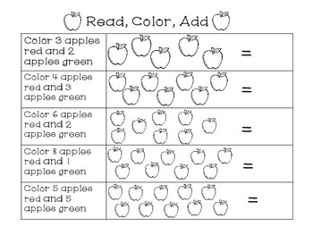 Apple Themed Math Pack Numbers 1-20