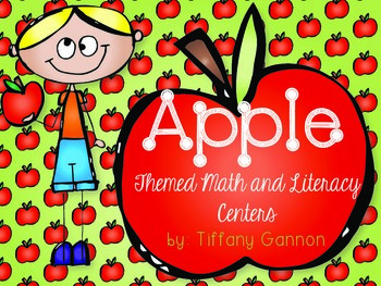 Apple Themed Math and Literacy Centers