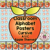 Classroom Alphabet Posters | Modern Cursive | Apple Theme