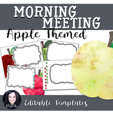 Back to School Apple Themed Morning Meeting Templates