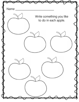 Apple-Themed Morning Work for the First Week of School