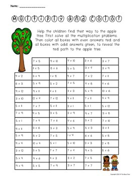 Fall Multiply and Color Activity
