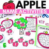Apple Themed Name Activities for Preschool or Kindergarten