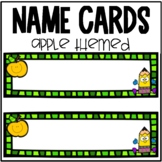 Apple Name Cards for Elementary