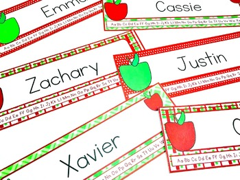 Apple Themed Name Tags for Desks