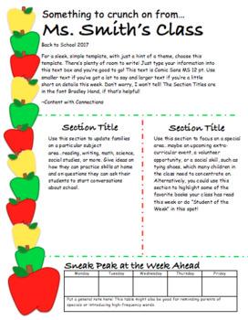 Apple Themed Newsletter (3 designs, all editable)