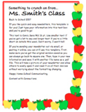 Apple Themed Newsletter for autumn or back to school (3 de