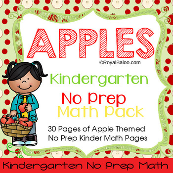 Apple Themed No Prep Kindergarten Math