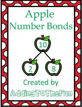 Apple Themed Number Bond Worksheets