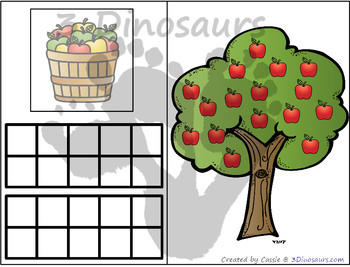 Apple Themed Number Counting Mats