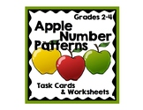 Apple Themed Number Pattern Activities