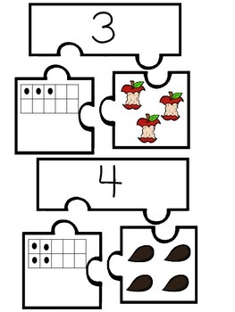 Apple Themed Number Puzzles