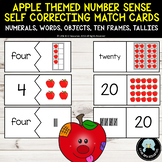 Number Sense Match Cards to 20 with Apple Theme
