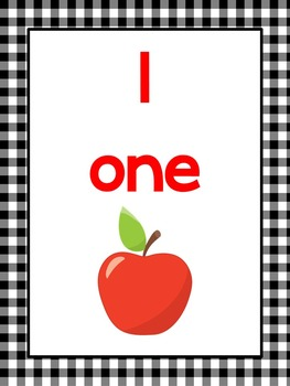 Apple Themed Numbers 1-20 Printable Posters/Anchor Charts.