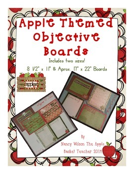 Apple Themed Objective Boards