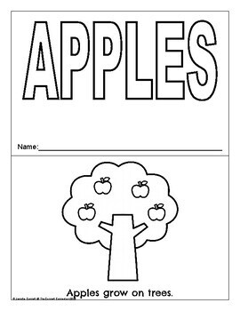 Apple Themed Packet for Pre-K and Kindergarten