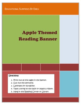 Apple Themed Reading Pennant Banner