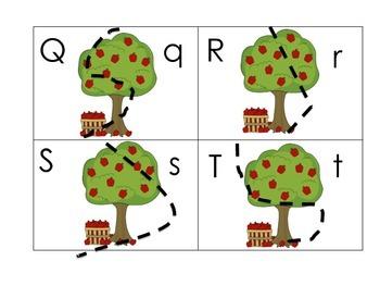 Apple Themed Pocket Chart Games for Kindergarten CCSS