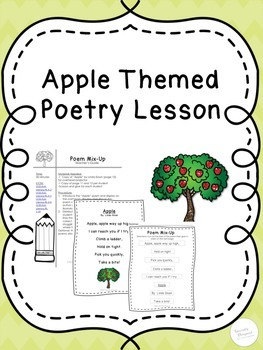 Apple Themed Poetry Lesson Plan and Printables-No Prep-Sample Unit