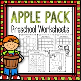 Preschool Worksheets- Apple Themed